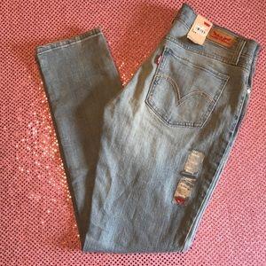 Levi's 524 Ultra Low Rise Skinny Jeans Light Blue